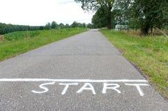 Inizi la riga Fotografia Stock