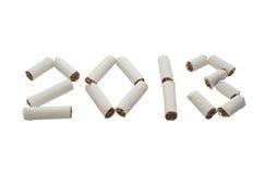 Inizi nuovo 2013 anni senza fumare! Fotografie Stock Libere da Diritti