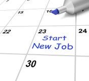 Inizi nuovo Job Calendar Means Beginning Fotografia Stock