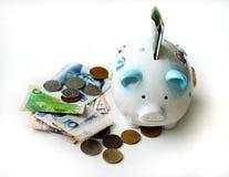 Inizi a salvare! /Investa nella valuta estera Fotografia Stock Libera da Diritti