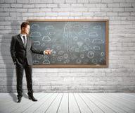 Inizi su e confronti le idee il concetto Immagini Stock