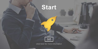 Inizi sull'inizio dell'inizio del lancio ad iniziare il concetto Fotografie Stock