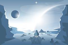 Inizi una navetta da un pianeta sconosciuto royalty illustrazione gratis
