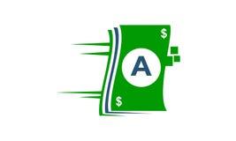 Iniziale A di tecnologia di pagamento di velocità Immagini Stock Libere da Diritti