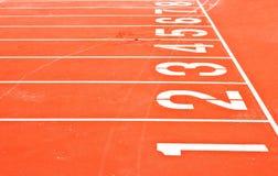 Iniziare griglia della pista di corsa Fotografia Stock Libera da Diritti