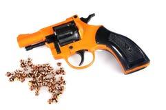 Iniziare pistola e gli spazii in bianco Fotografie Stock Libere da Diritti