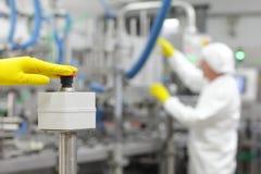 Iniziare processo industriale Immagine Stock Libera da Diritti