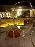 Inizio dei vetri di vino fotografia stock