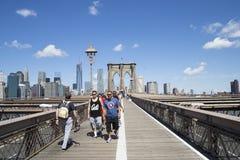 Inizio del ponte di Brooklyn Fotografia Stock Libera da Diritti