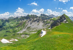Inizio dell'estate nelle alpi di Allgau Fotografie Stock