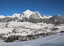 Inizio dell'inverno in Toggenburg, vista del Mt Saentis Fotografia Stock