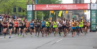 Inizio della maratona di Ottawa Immagini Stock Libere da Diritti