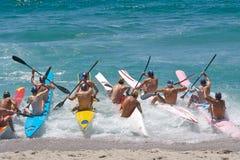 Inizio di una corsa di barca Fotografie Stock Libere da Diritti