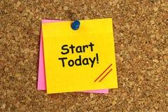 Inizio oggi immagine stock