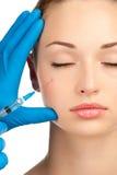 Injeção de Botox Fotografia de Stock Royalty Free