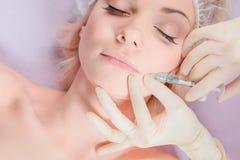 Injeção de Botox Fotografia de Stock
