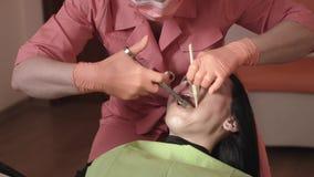 Injeção de Makes An Anesthetic do dentista video estoque