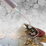 Injeção financeira Foto de Stock Royalty Free