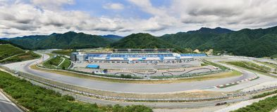 Inje Speedium racing circuit in Korea royalty free stock image