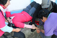 Inject for first aid AMS in everest trek Stock Image