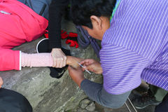 Inject for first aid AMS in everest trek Stock Images