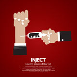 Inject. Vaccination In Hospital Vector Illustration Royalty Free Stock Image