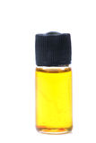 Injectable steroid. Beautiful shot of injectable steroid bottle over white background stock photos