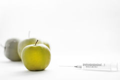 Injected fruits Stock Image