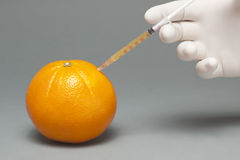 Injected Orange Royalty Free Stock Photography