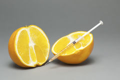 Injected Orange Stock Photo