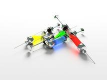 Injectie, Spuit, geneeskunde Stock Afbeelding
