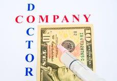 Injectie van nieuwe fondsen. royalty-vrije stock afbeelding