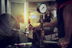 Injectiesysteem het Testen Stock Foto