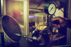 Injectiesysteem het Testen Stock Fotografie