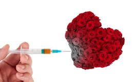 Injecting drugs into heart Stock Images
