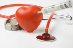 Injecting heart Stock Images