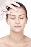 The injection of Botox Royalty Free Stock Photos