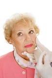 Injection cosmétique - bouche Photographie stock libre de droits
