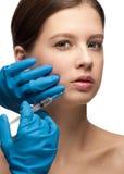 Injection cosmétique de botox Photo stock