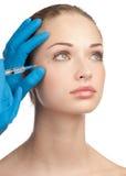 Injection cosmétique de botox Photos libres de droits