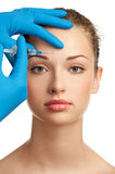 Injection de Botox Images libres de droits