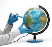 Injection of ecology Stock Photo