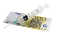 Injection financière Photographie stock libre de droits