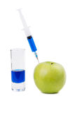 Injection of green apple Royalty Free Stock Photo