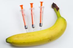 Injection médicale Equipme en plastique de vaccination d'isolement par médecine Image libre de droits