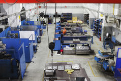 Injection mould manufacturing. Interior of an injection mould manufacturing production room Stock Photos