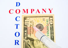 Injection of new funds. royalty free stock image