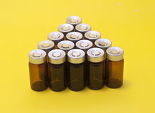 Injection vials Royalty Free Stock Images
