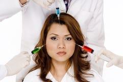 Injections colorées Photo libre de droits
