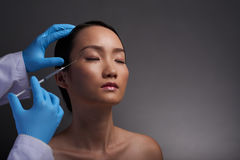 Injectios of hyaluronic acid Stock Photos